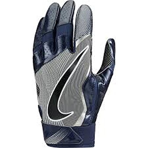 Nike Mens Vapor Jet 4.0 Football Receiver Gloves College Navy/Wolf Grey/Black (Small) Black Mens Football Receiver Glove