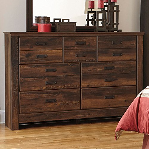 Ashley Furniture Signature Design - Quinden Dresser - 7 Drawer - Dark Brown by Signature Design by Ashley