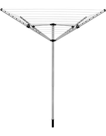 ECD Germany - Tendedero de Jardin Giratorio- 40m Aluminio -4 -Brazos- Altura