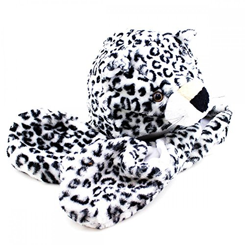 Snow Leopard_(US Seller)Plush Hat+Earmuff+Scarf and Gloves / Mitten