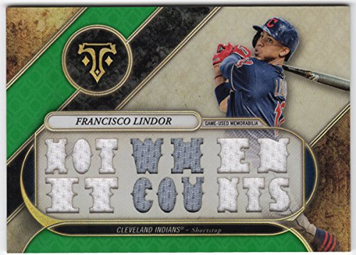 Francisco Lindor 2017 Topps Triple Threads 15 Piece Jersey Card Serial #06/18 Cleveland - Indian 2017 Serial