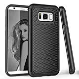 Samsung S8 Case, Galaxy S8 Case, Galaxy S VIII Case, TILL(TM) [Black] [Shock Absorption] Dual Layer Hybrid Armor Defender Protective Case Cover Shell for Samsung Galaxy S8/ S VIII 5.8Inch