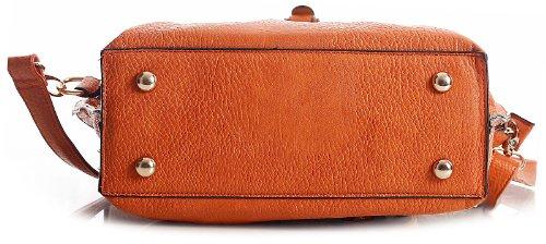 Shoulder Leather Shop Violet Vegan Multi Satchel Bag Small Womens Pockets Big Handbag Tassel wZqnBzB