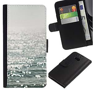 iKiki Tech / Cartera Funda Carcasa - Reflective Sea Sailing Sun Summer Water - HTC One M8