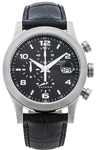 LOCMAN watch ISLAND 0618A01-00BKWHPK Men's