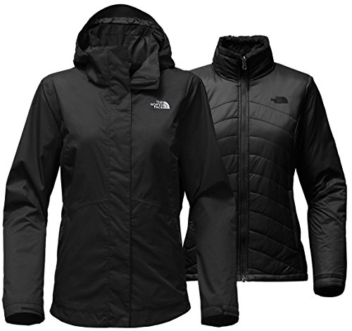 Black Diamond Fleece Jacket - The North Face Women's Mossbud Swirl Triclimate Jacket - TNF Black - M (Past Season)