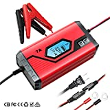 GOOSUO Battery Charger 12V 7A/3.5A Portable Battery Maintainer Waterproof Fully Automatic Trickle Charger for Car Truck Motorcycle Boat RV Lawn Mower SLA Wet MF GEL AGM 12V LiON Batteries