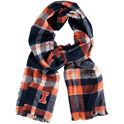 Illinois Fighting Illini ZooZatz Women's Tartan Blanket Scarf (Illini Blanket Fighting)