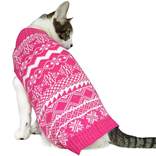 Blueberry Pet Vintage Tinsel Knit Fair Isle Dog Sweater in ...