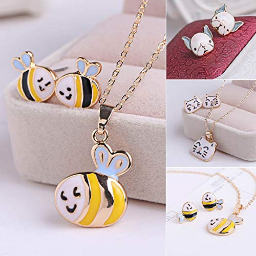 Costume jewelry Crystal Choker Pendant Statement Chain Charm Necklace and Earrings Sets