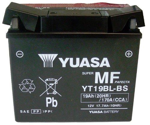 Yuasa (YUAM6219BL) YT19BL-BS Sealed Battery, used for sale  Delivered anywhere in USA
