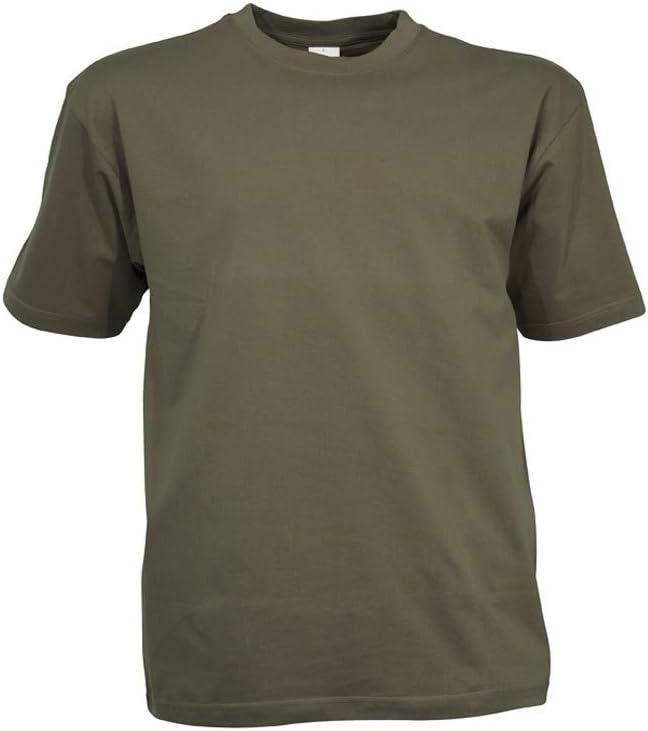 Camiseta, diseño militar de camuflaje, para paintball, airsoft, caza o complemento de moda verde large