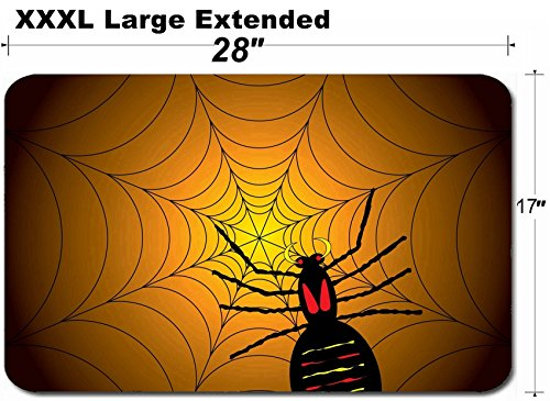 MSD Large Table Mat Non-Slip Natural Rubber Desk Pads Image ID: 1729325 Illustration of a Halloween Spider on its Web with a Orange and Black