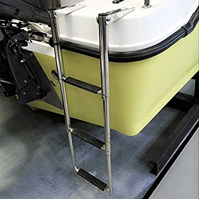 M-ARINE BABY 3 Step Stainless Steel Telescoping Boat Drop Ladder