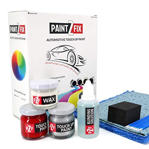 (PAINT2FIX Nissan Leaf Black Obsidian KH3 Touch Up Paint - Scratch & Chip Repair Kit - Silver Pack)