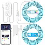 Govee (32.8ft) LED Strip Lights Wireless Smart Phone APP Control Compatible with Alexa Google Assistant Light Strip Kits Non-Waterproof Music Sync RGB Tape Lights (Not Support 5G WiFi)