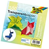 Global Art Folia Semi-Transparent Origami Paper 6-Inch-by-6-Inch Bulk Pack 500 Sheets