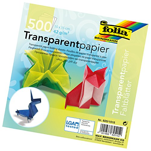 Global Art Folia Semi-Transparent Origami Paper 6-Inch-by-6-Inch Bulk Pack 500 Sheets by Global Art