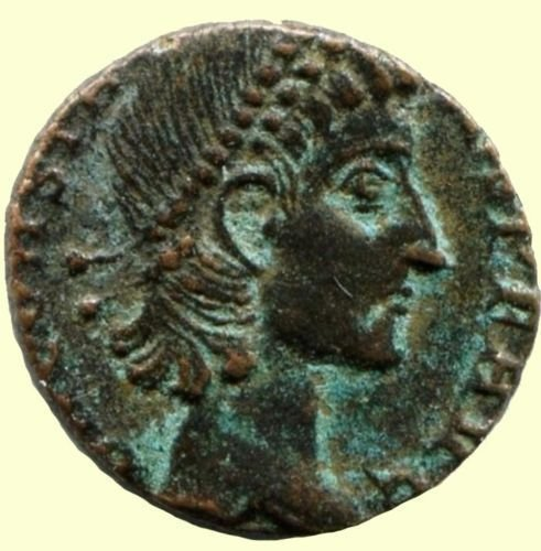 Roman coin, Ihnasyah Hoard, Constans, 337-350AD, Nicomedia, 11766