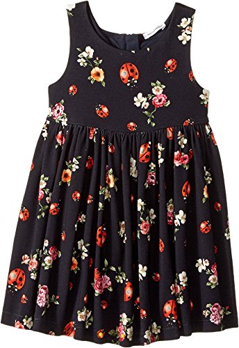 Dolce & Gabbana Kids Baby Girl's Back To School Floral Dress (Toddler/Little Kids) Coccinelle 2T (Toddler) (& Little Dress Dolce Black Gabbana)