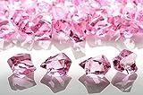 PaperLanternStore.com Pink Colored Gemstones Acrylic Crystal Wedding Table Confetti Vase Filler (3/4 lb Bag)