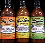 Louie Mueller Barbecue Sauce, Variety Pack of 3 Flavors 12.5 Oz offers