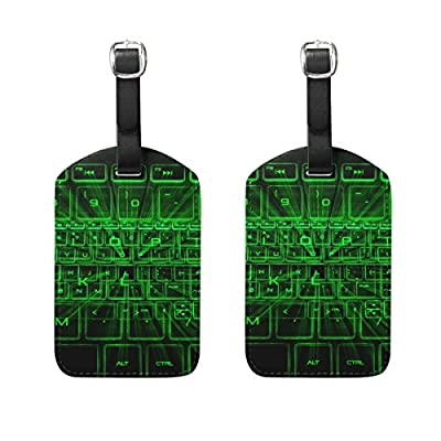 07a1e6e91452 low-cost LEISISI The Glowing Keyboard Travel Luggage Tags Suitcase Luggage  Bag Tags 2PCS