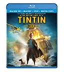 Cover Image for 'Adventures of Tintin (Three-Disc Combo: Blu-ray 3D / Blu-ray / DVD / Digital Copy), The'