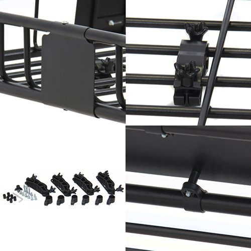 Cargo Car Top Luggage Carrier Basket Traveling SUV Holder Best Choice Products SKY1515 Universal Roof Rack