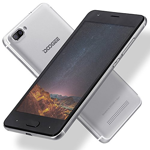 "Unlocked Cell Phones, DOOGEE X20 Smartphone Unlocked Android 7.0-5.0"" HD IPS Display - 1GB RAM + 16GB ROM - 5MP Dual Cameras - 3G Unlocked Smartphones - Silver"