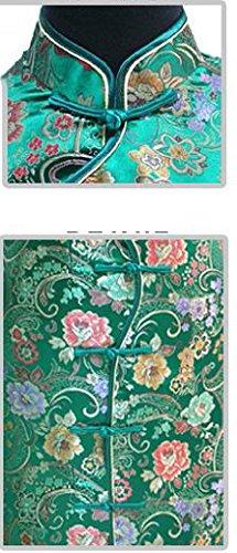 7Fairy Women's Vtg Green Ten Buttons Long Chinese Dress Cheongsam Size 4 US by 7Fairy (Image #1)