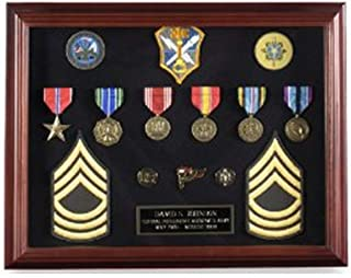 """product image for flag connections Shadow Box Display Frame - 16 x 12"""" with Cherry Finish"""