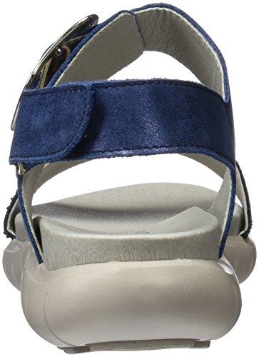 Callaghan 20709, Sandalias con Punta Abierta para Mujer Azul (Blue)