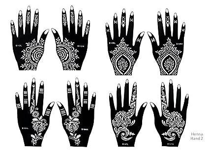 Beyond Henna de tatuaje desechable autoadhesivo con 8 hojas para ...
