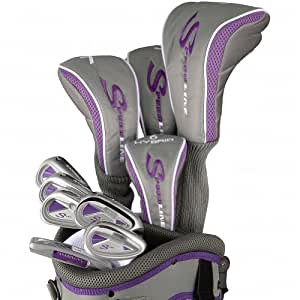 Adams Golf Speedline Steel Uniflex Set, Right Hand, Gray/Purple