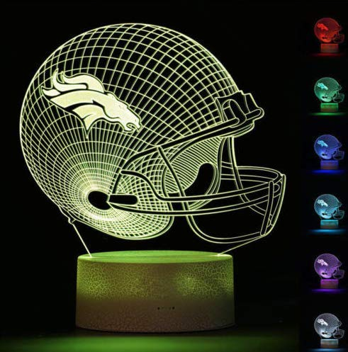 - Football Helmet Light - Touch Control Football Team Light Lamp- 7 Color Changing Touch Light Lit Base - Night Light for Boys Men Women for Football Sports Lovers (Buffalo Bills)