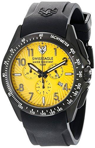 Swiss Eagle SE-9061 - 04 de la Hombres Táctico negro reloj de cuarzo analógica Swiss por Swiss Eagle: Amazon.es: Relojes