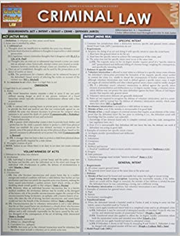 Criminal Law (Quick Study Law) by Inc. BarCharts (2012-12-31)