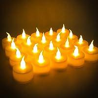 Velas LED, 24 piezas Velas Parpadeantes sin Llama, Velas LED Sin Fuego con Pilas, Velas de LED Decorativas con Efecto…