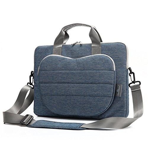 JOTHIN Laptop-Tasche tragbaren Umhängetasche Schultercomputerbeutel 12-Zoll-13-Zoll-15-Zoll-Laptop-Tasche (Schwarz 12zoll) Blau 15zoll XsWiBXtLAr