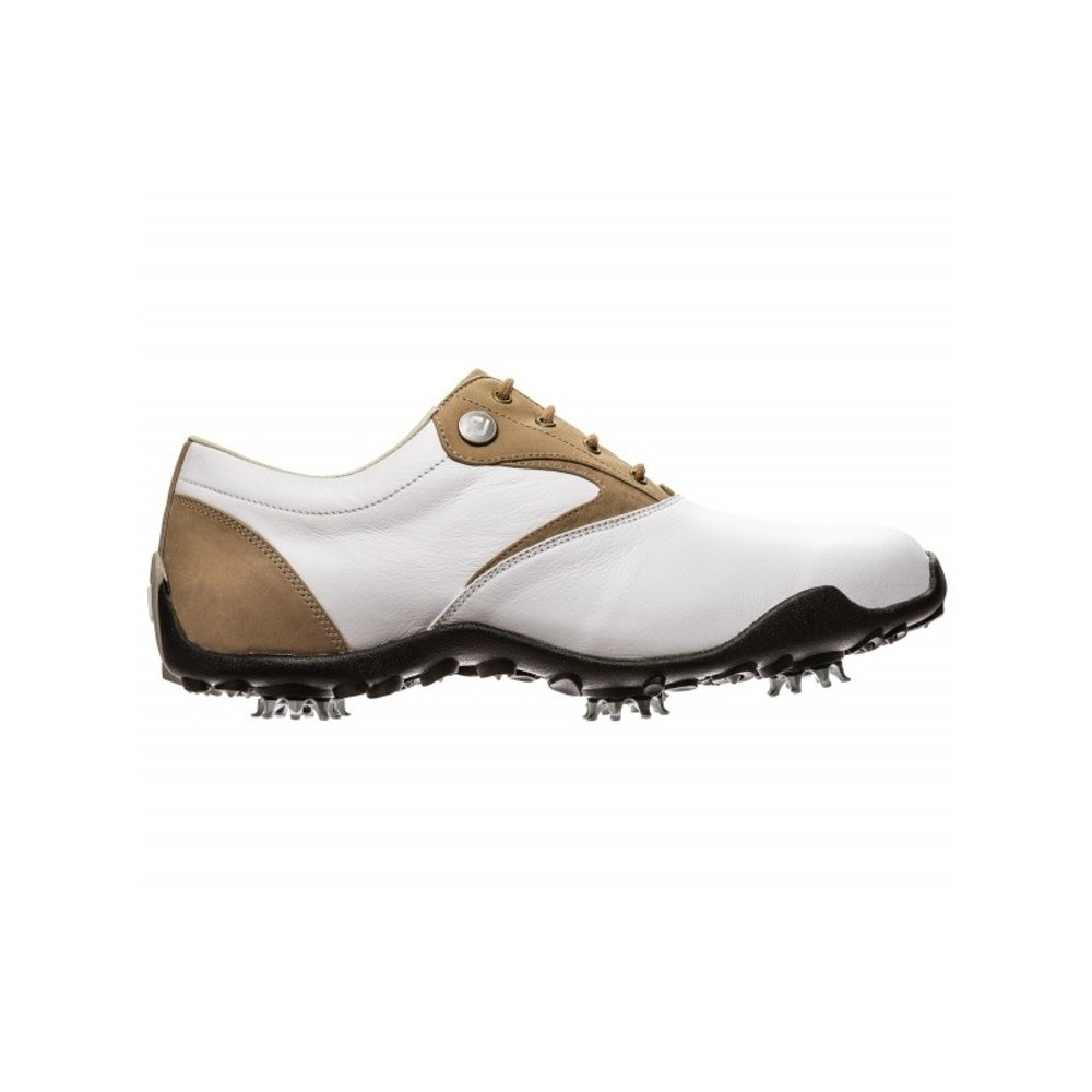 FootJoy New Women's LoPro 97119 Golf Cleat White/Taupe 10 M