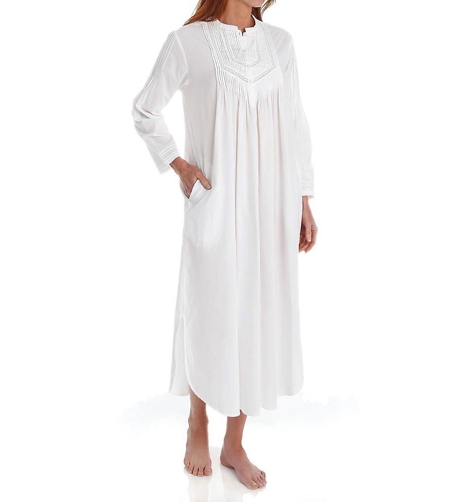 La Cera 100% Cotton Woven Long Sleeve Nightgown (1060G) at Amazon ...