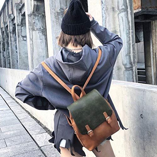 Britannique Mode Sauvage B Du A À Simple Version Backpack Dos De Rétro Sac Féminin Coréenne color 6wnPx07
