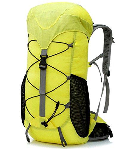 Alpinismo Al Aire Libre Mochila De Viaje 35L,Blue2 yellow