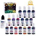 NODDWAY Alcohol Ink Set 18Vibrant Colors Great Alcohol-Based Inks, Each 0.35oz for Resin Coasters/Petri Dish Making, Epoxy Resin Painting, Tumbler