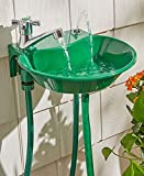 Diamondgift Drinking Water Fountain with Sink &Faucet Hand Washing Gardening Outdoor 2 in 1