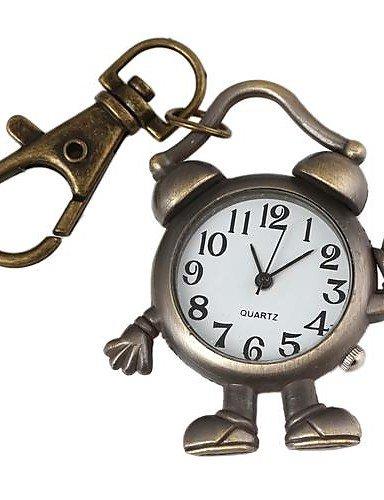 XM unisex robot/alarma aleación Llavero Reloj analógico de ...