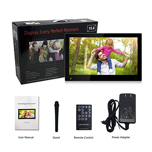 15.6 Inch Large Digital Picture Frame with Hu Motion Sensor LCD Advertising Player with 1080P LCD AV HDMI Input VESA Full IPS Remote by SSA (Image #8)