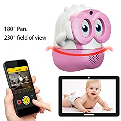 Baby Watch & Nanny Watch. Encore, KUBY Cam Baby Surveillance IP Camera. Build-in Battery. Support Two Way Audio. Motion Sensor. (Pink)