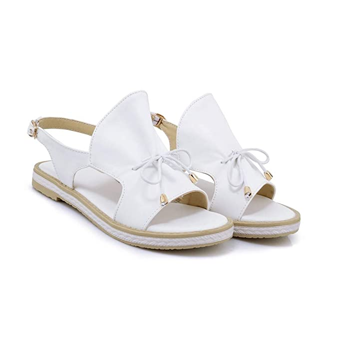 Size 5-7 Holiday Buckle Flat Jellies Sandal Beach Shoes Ladies Womens Summer